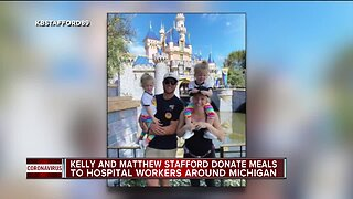 Kelly and Matthew Stafford donate meals to hospital workers, first responders