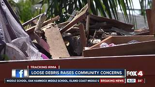 Loose debris raises community concerns - Video