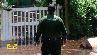 Withlacoochee River in Hernando at major flood stage - Video