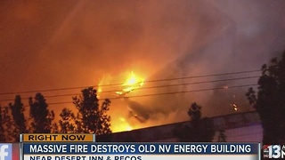 Crews battle massive building fire Wednesday morning - Video