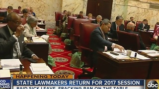 Maryland lawmakers return for 2017 session Wednesday - Video