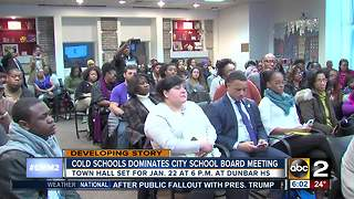 Frigid schools lead to heated Baltimore City Public School Board meeting - Video