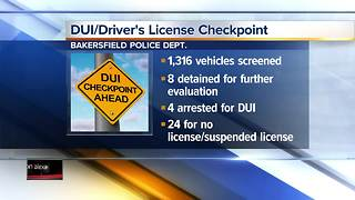 DUI and driver's license checkpoint leads to four arrests - Video