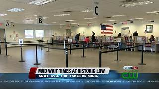 ADOT: MVD wait times at historic low - Video