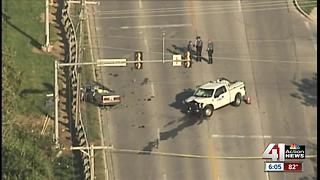 2 dead, 1 hurt after police chase started in KCK - Video