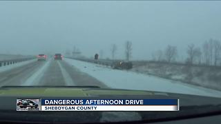 28 car accidents in Sheboygan Co. after winter storm blankets roads - Video