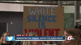 Demonstration downtown about police merit board ruling - Video