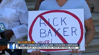 LGBTQ community leaders denounce St. Pete Mayoral candidate Rick Baker - Video