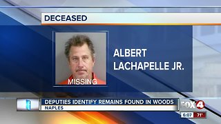 Remains identified after found in the woods