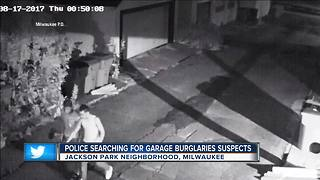 Milwaukee Police seek 3 suspects wanted in more than a dozen south side garage burglaries - Video