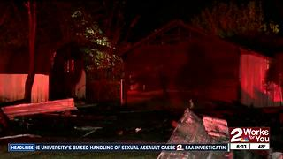 Garage fire arson - Video