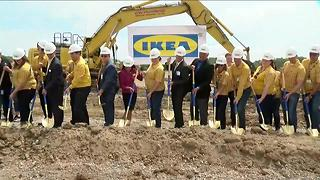 Officials break ground on Oak Creek IKEA - Video