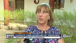 Fireworks force family from home - Video
