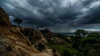 Timelapse Shows Rain Clouds Gather Over Southern Coast - Video