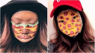Artist creates incredibly realistic face and body paintings of fast food