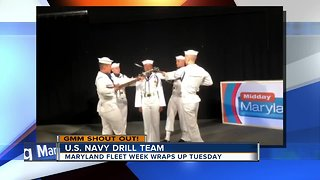Good morning from the U.S. Navy Drill Team!