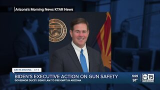 Arizona Governor Doug Ducey signs bill to preempt federal gun laws
