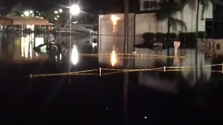 Cars under water in Fort Myers parking lot - Video