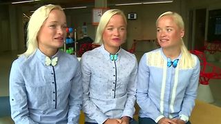 Estonian triplets set to compete in Rio Olympics - Video