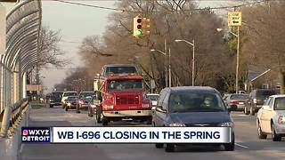 Major WB I-696 closure scheduled through Macomb County for 2018 - Video