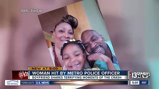Family car hit by metro police officer