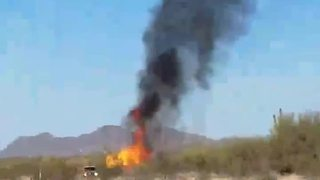 Hot air balloon catches fire in north Phoenix