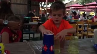 Kid's Adorable Shell Game Fail - Video