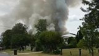 Firefighters Battle Blaze at Boonah Residence - Video