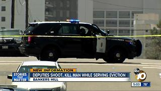 Deputies shoot, kill man while serving Bankers Hill eviction - Video