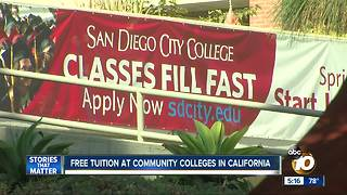Free tuition at community colleges in California - Video