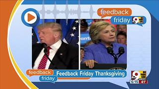 Feedback Friday: Thanksgiving thoughts