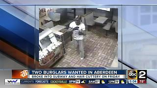 2 burglars wanted in Aberdeen - Video