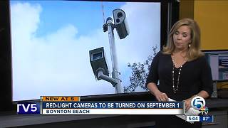 Boynton Beach red-light cameras to be turned on in September - Video