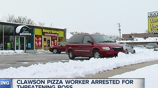 Worker arrested for threatening boss - Video