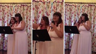 Two Bridesmaids Deliver The Ultimate Disney Song Wedding Speech