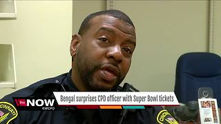 Bengal's surprise to police officer: You're going to the Super Bowl - Video