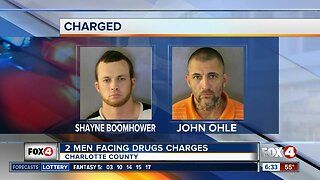 Two felons arrested after drugs found during traffic stop in Charlotte County