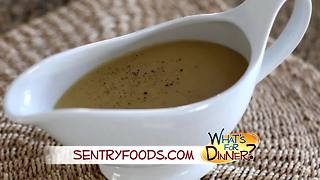 What's for Dinner? - Make-Ahead Turkey Gravy - Video