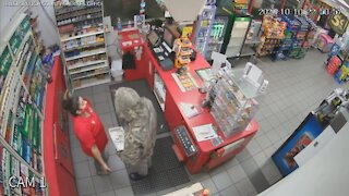 HCSO searching for gas station robbery suspect