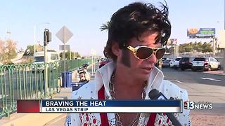 Las Vegas locals and tourists brave the record-tying heat - Video