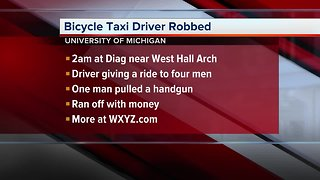 Bicycle taxi driver robbed on University of Michigan campus