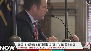 Local electors cast ballots for Trump & Pence - Video