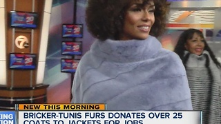 Bricker-Tunis Furs celebrates 100 years in business by giving back to Jackets for Jobs - Video