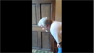 Emotional grandpa meets granddaughter for the first time - Video