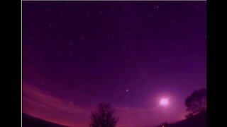 Jaw-dropping sunset to moonset sky time lapse