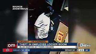 Man caught on camera stealing at Blue Martini - Video