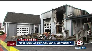 Firefighter dies after fire in Greenfield - Video