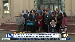 Group wants stadium money for homeless, hep A - Video