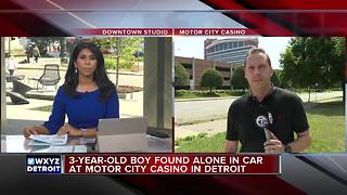 3-year-old child found in vehicle at Motor City Casino parking garage - Video