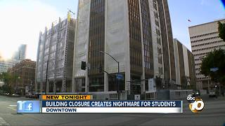 Building closure creates nightmare for students